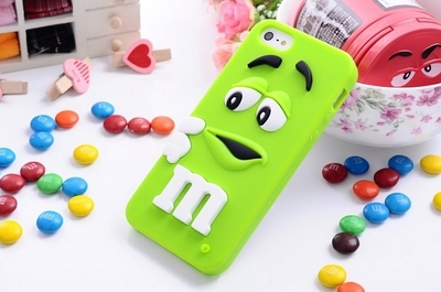 For iphone 6 cases M&M's chocolate candy rubber soft silicone cartoon cell phone case covers for iphone6 4.7 inch