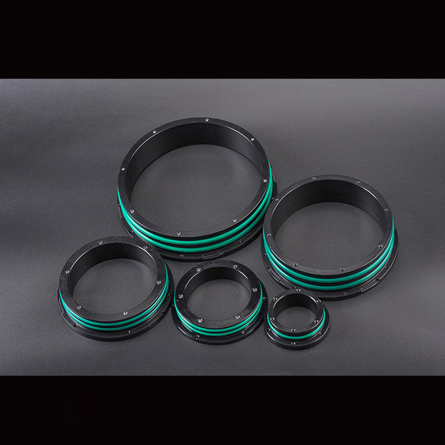 Acrylic Tube Watertight Flange For ROV Unter Water Robot Aluminum Alloy Sealed Cabin Flange for Remote Operated Vehicle