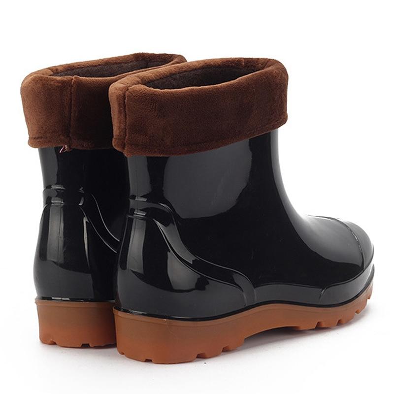 Botas Caliente Algodón Zapatos Goma Hombres Los 3 Antideslizante Coches De Lavado Lluvia Trabajo 1 Bajo 2 Camuflaje Tubo Agua 7tqn6qH0I