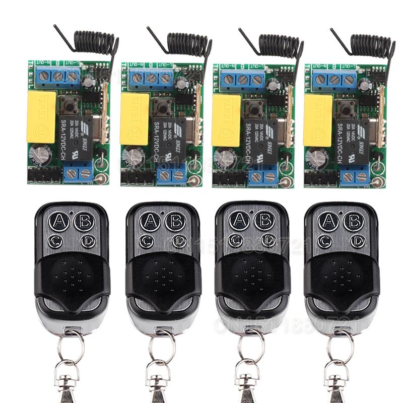 Free Shipping AC 220V 1 CH Relay Mini Receiver 10A Remote Switch Input AC220V Wireless Switch 315/433.92MHZ Superheterodyne RX