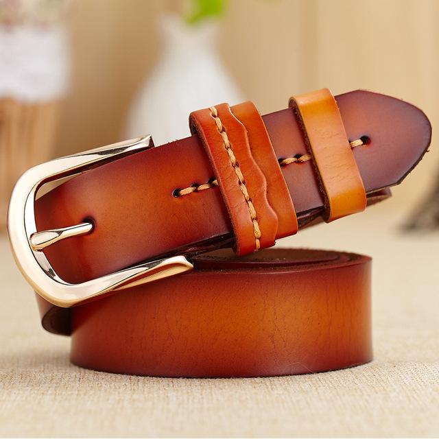 [HIMUNU] NUEVA Llegada Hilo de Correa de Las Mujeres Diseñador de la Marca 100% Cuero Genuino Cinturones de Moda Para las mujeres