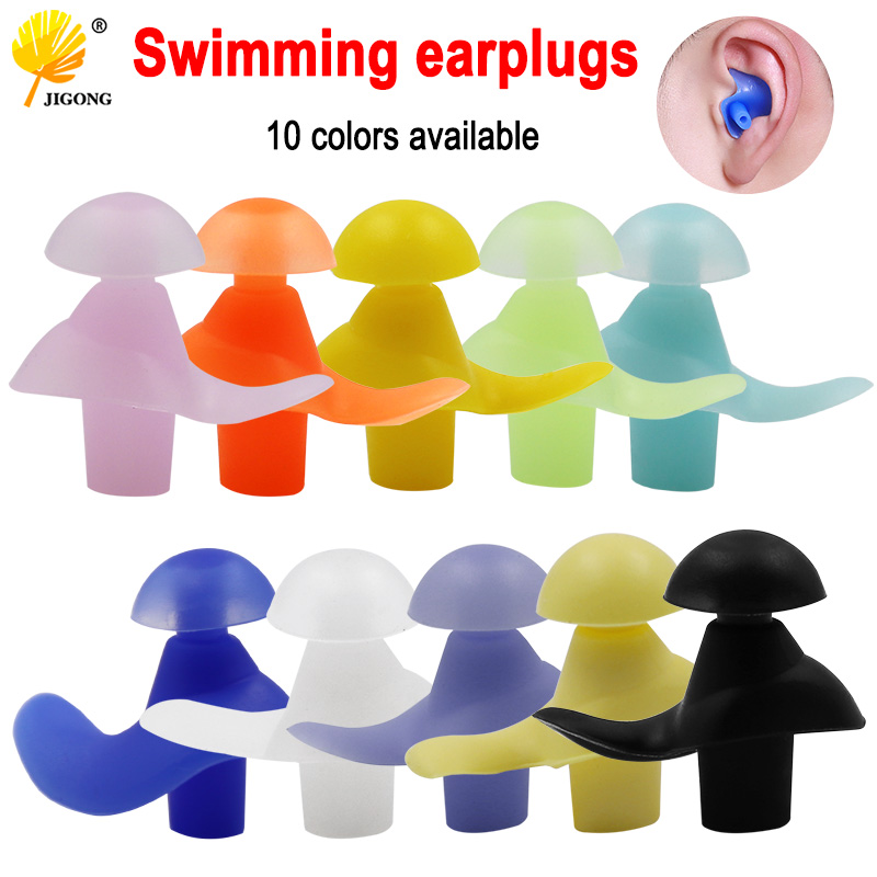 1 Pair Soft Ear Plugs Environmental Silicone Waterproof Dust-Proof Diving Swimming Accessories Ear Set