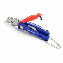 цена на WORKPRO Portable Folding Knife with 5 Blades Pocket Knife Key Chain Knife Mini Camping Key Ring Knife Tool Free Shipping