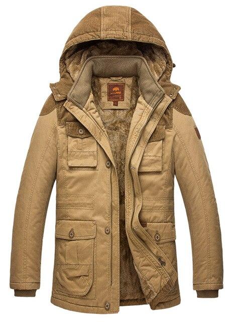 Wildgeeker Мужские Пальто Твердые 98% Хлопок Свободные Водонепроницаемый Толстый Зимний снег Теплая Куртка Из Искусственного Меха Пальто Парки Плюс Размер M-5XL