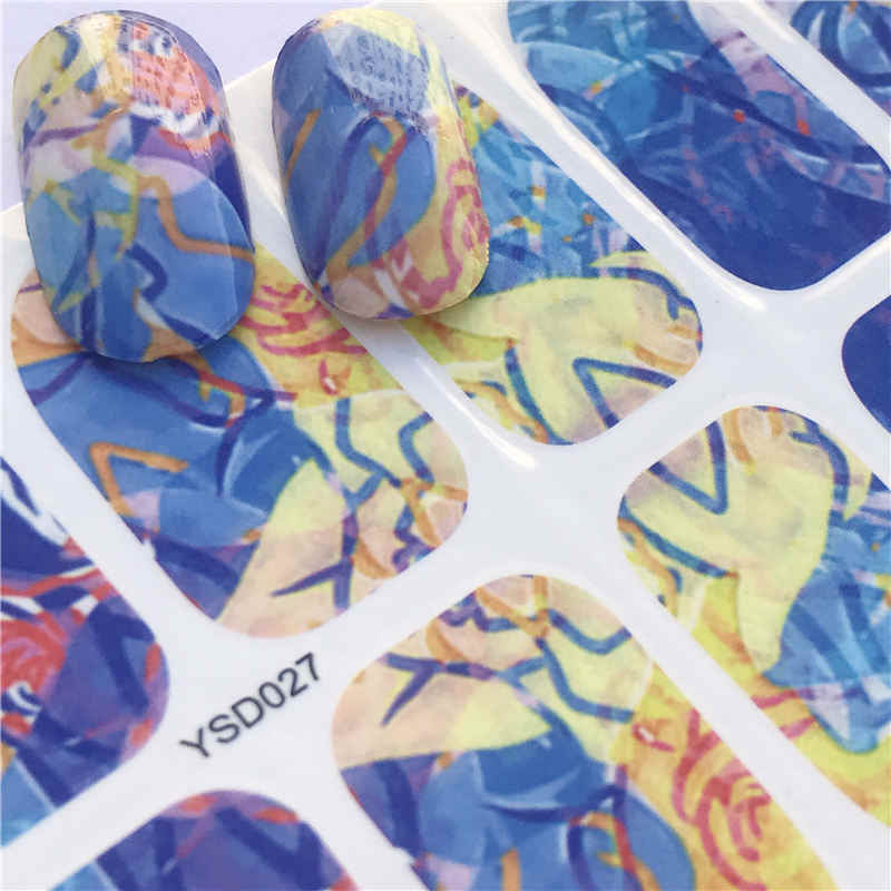 YZWLEโรแมนติกLady Red Beauty Nail Art Water Transferสติกเกอร์ตกแต่งDecalsเครื่องมือWrapsเซ็กซี่TATTOO Manicure