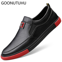 2019 new spring loafers male genuine leather cow men's shoes casual classics black flat shoe man slip on platform shoes for men недорго, оригинальная цена