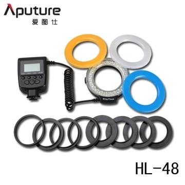 Aputure Amaran Halo AHL-H100 CRI 95 + светодиодный Macro Ring Flash Light автофокуса 49-77 мм Переходники объективов кольцо для Canon SLR Камера
