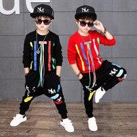 Children Clothing Set Boys Tracksuits Spring Autumn Fashion Print Long Sleeve T Shirt+casual Harem Pants Sets Boys Sport Suits