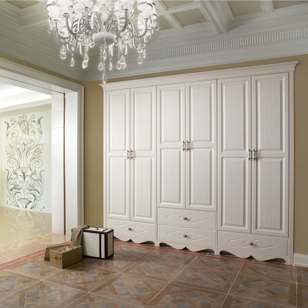 New design decorative 3 door bedroom laminate wardrobe designs yg51441 in wardrobes from - Wandschrank schlafzimmer ...