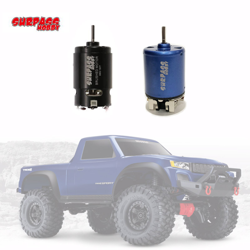 550 12T 21T 27T 35T Brushed <font><b>Motor</b></font> for Wltoys Kyosho TRAXXAS TRX4 Redcat 1/10 D90 D110 SCX10 <font><b>RC</b></font> Car Off-road Crawler image