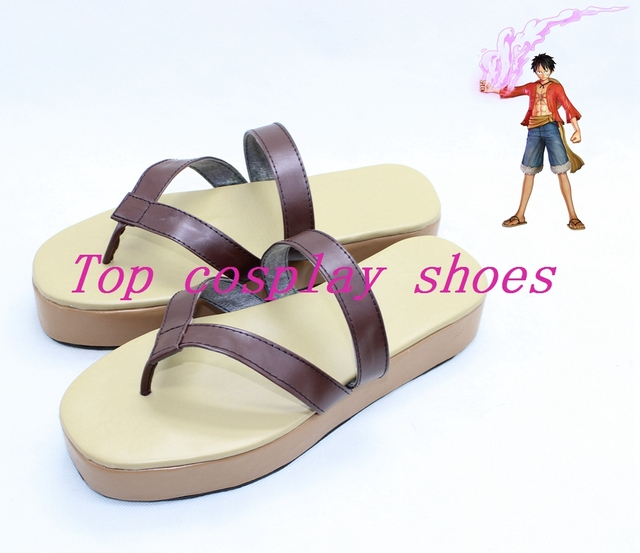 One Piece Anime Monkey D Luffy Cosplay Shoes Boots Custom Made