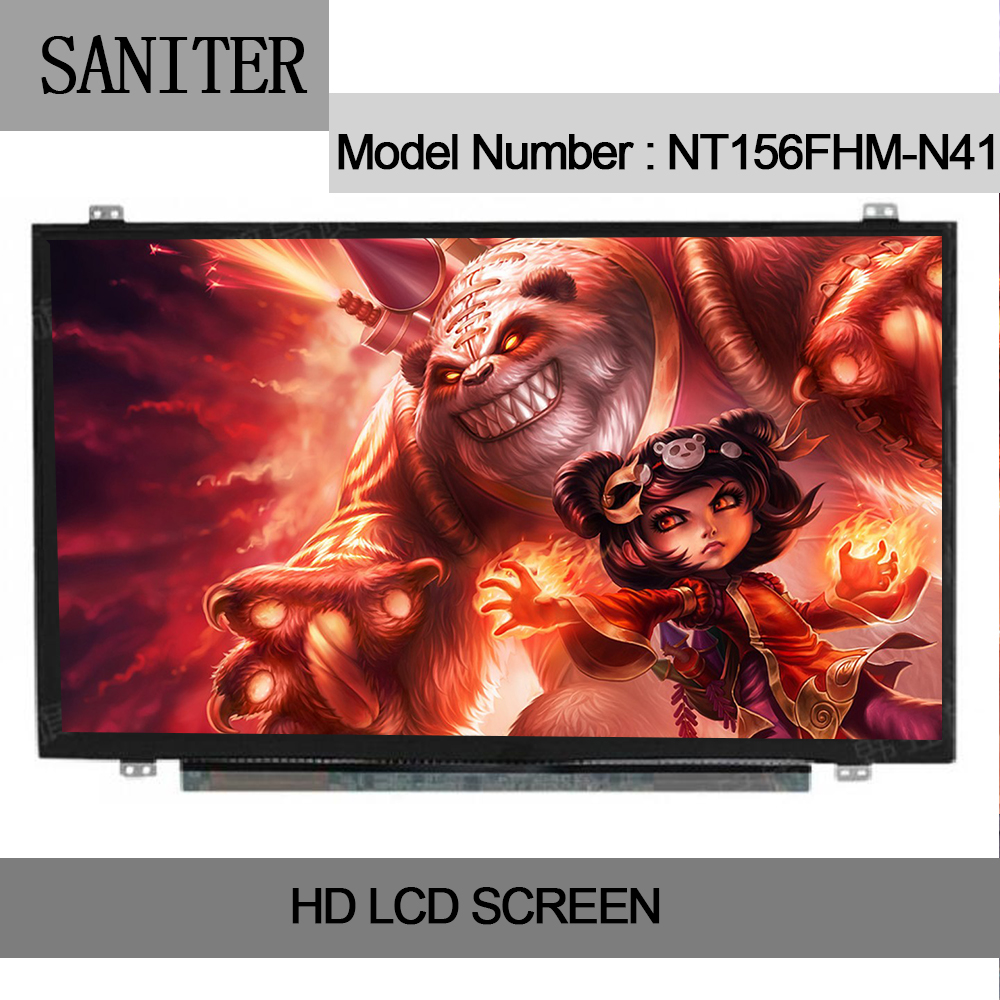 SANITER NV156FHM-N41 NV156FHM-N42 NV156FHM-N46 Type Laptop LCD Screen saniter ltn140kt08 801 apply to samsung np700z3a s03us special 14 inch high score laptop lcd screen