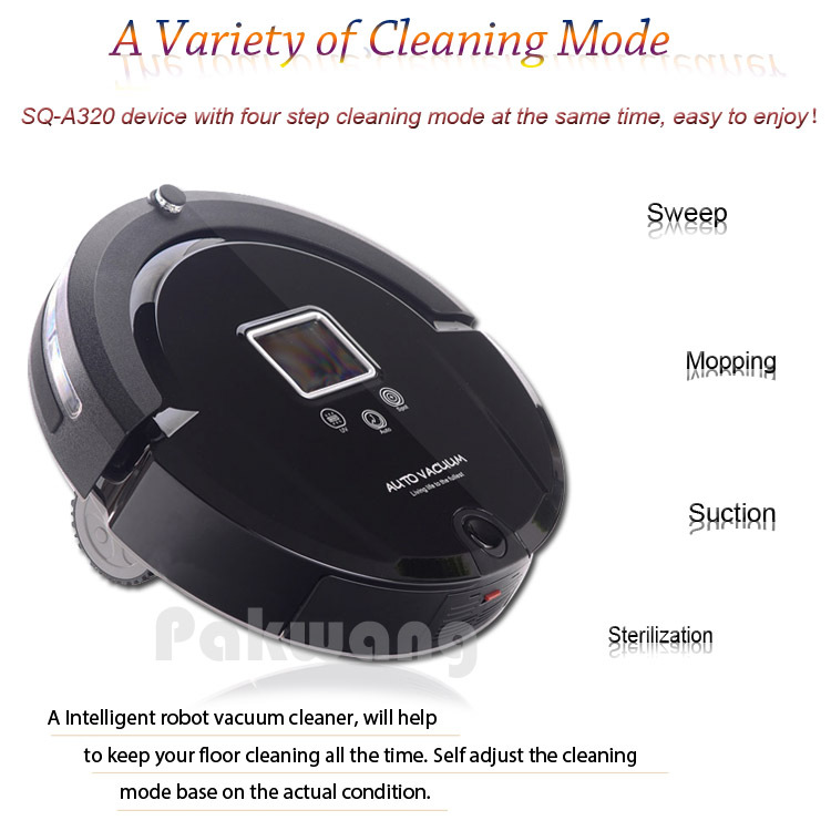 2017 Most Advanced Robot Vacuum Cleaner For Home (Sweep,Vacuum,Mop,Sterilize) With Remote control schedule A320 Vacuum Cleaner 4 in1 multifunctional cheap sq a380 robot vacuum cleaner for home vacuum mop sweep uv sterilize automatic vacuum cleaner