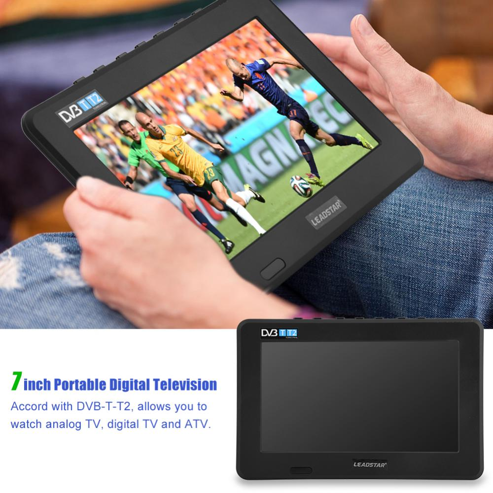 LEADSTAR 7inch DVB T T2 16 9 HD Digital Analog Portable TV Color Television Player for