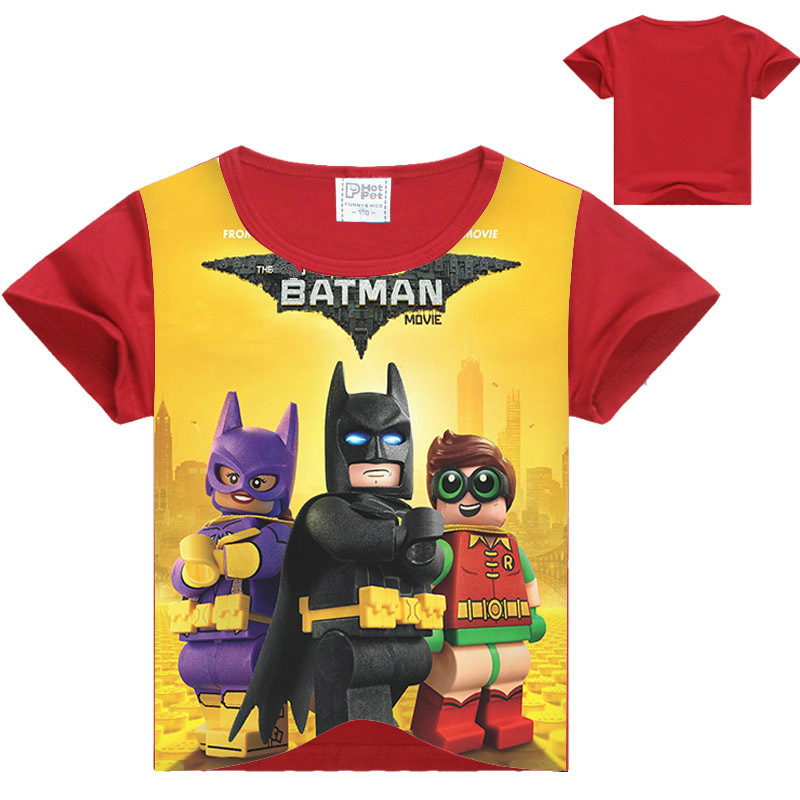 2017 Summer Boys T Shirts Batman Superman Children's Clothing Baby Girls T-shirt Ninja Ninjago Cotton T-shirt Kids Tops Tees