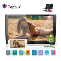 Topbox 2 din 10.1 inch Car Radio 2G+32G Android Autoradio GPS Navigation With Capacitive Screen Wifi 3G Mirror Link DVD CD Playe