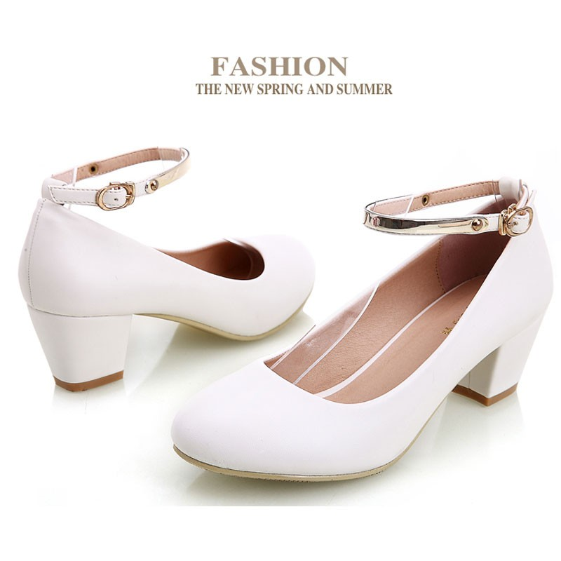 YALNN Office Leather High Heel Shoes for Women