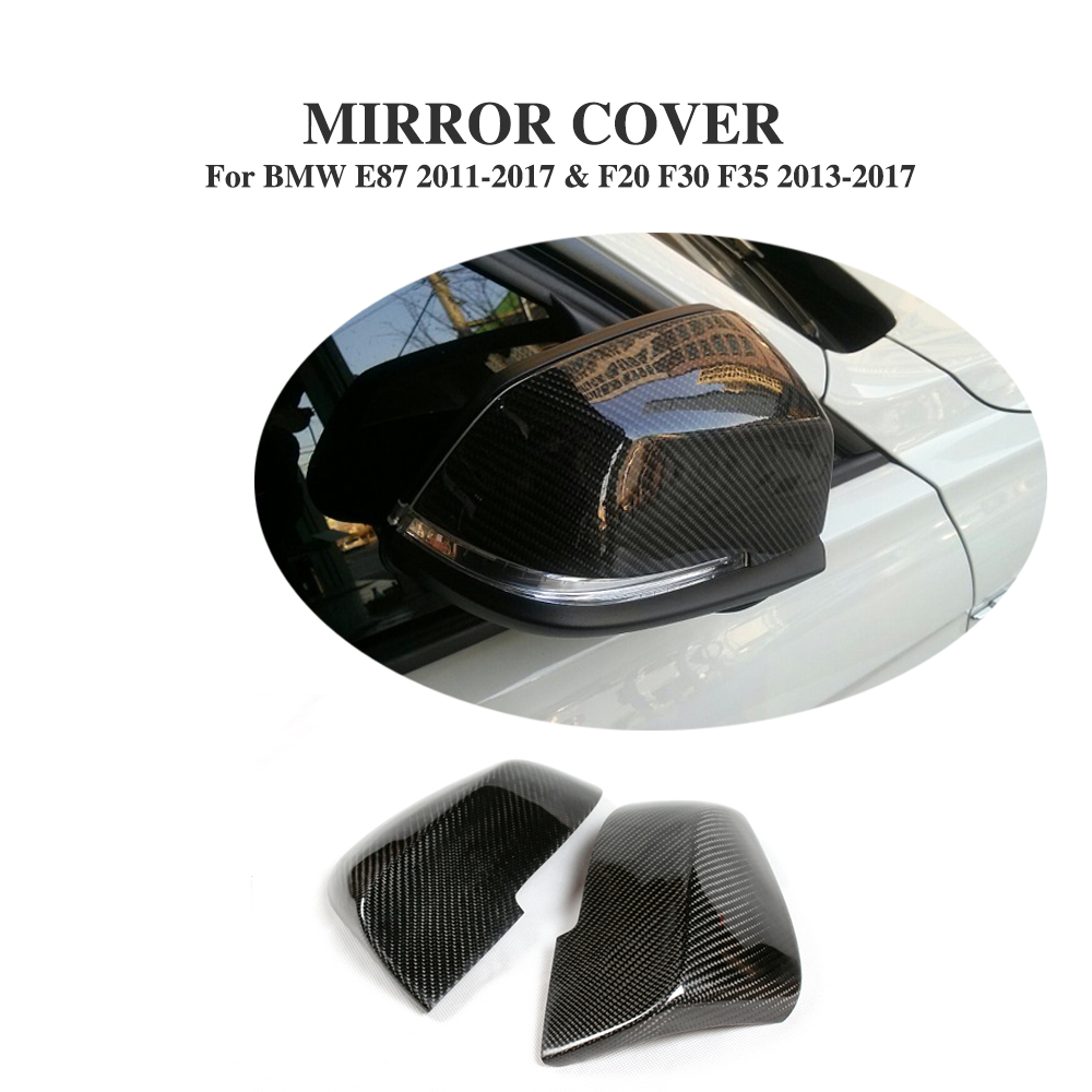 Carbon Fiber Add on style Rearview Mirror Cover Side Wing Caps Fit for BMW E87 2011-2017 & F20 F30 F35 2013-2017 carbon fiber mirror rearview cover 2pcs for bmw x6 f16 2015