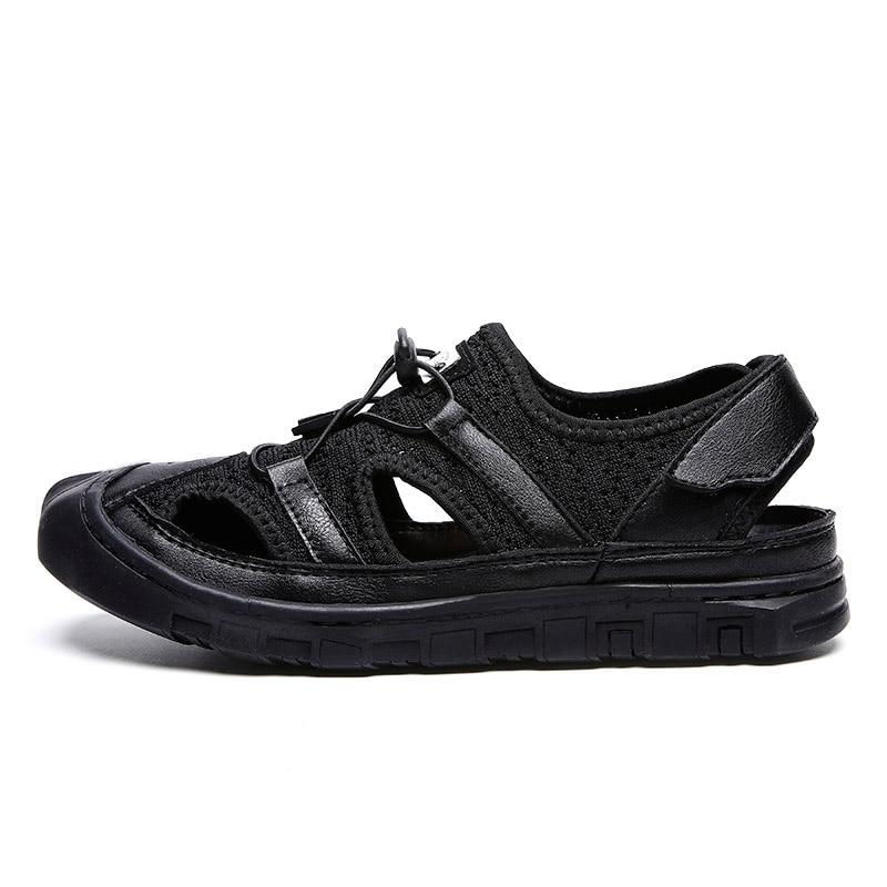 0747aebe3 Moda Respirável Preto Nova branco Sapatos Pescador cinza Sandálias Verão  Oco Casual PAgxSWPc1
