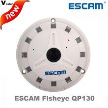 ESCAM Fisheye IP Camera QP130 1080P Full HD fisheye lens 1.3MP 360 Degree Night vision Onvif Home security camera free shipping