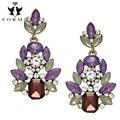 Parafuso Prisioneiro de luxo Brincos Moda Jóias Mulheres Brincos de Alta Qualidade Embutidos Cristal Flor Liga Encantos Wolesale ER015
