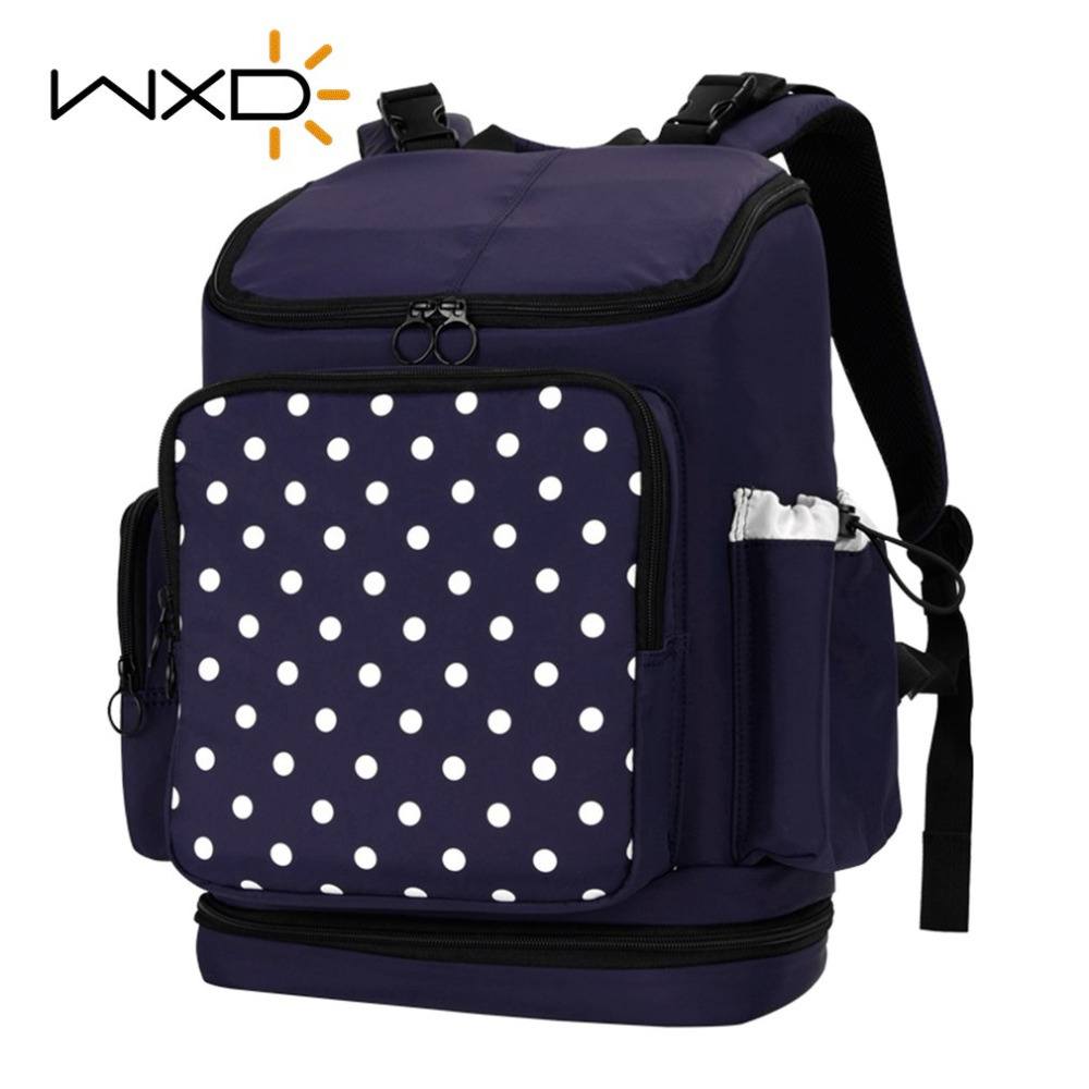 WXD Baby Diaper Bag Fashion Mummy Maternity Nappy Bag Organizer Nursing Bags Travel Backpack Diaper For Baby Stroller fashion cute panda baby mummy diaper nappy bags keep fresh lunch breast milk bag thermal portable travel picnic hobos baby care