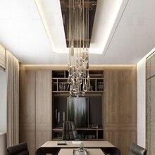 Креативный подвесной светильник в форме капель воды с кристаллами в европейском стиле, роскошный светодиодный стеклянный светильник для внутреннего освещения, для ресторана, золотого цвета