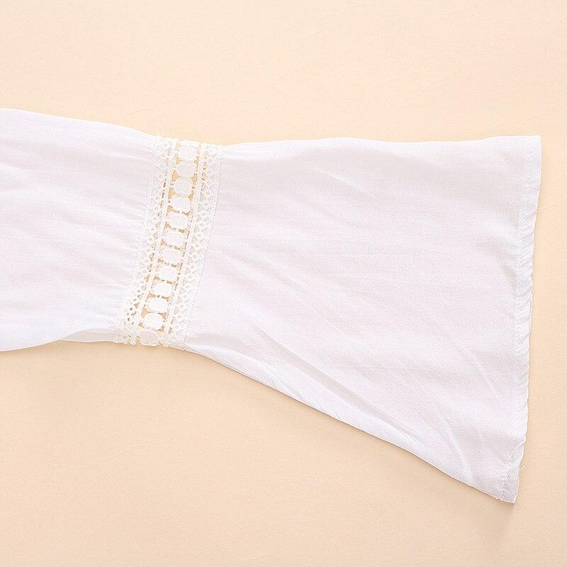 2017 bohemian style kobiety lato white dress sexy dorywczo v szyi 3/4 flare rękaw koronki szydełko loose mini sukienki plażowe vestidos 14