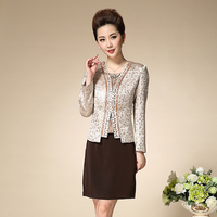 High Quality 2017 Free Shipping New Fashion Women Work Wear Plus Size Clthes Sets Mom Dress