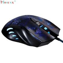 Adroit Colorful Backlight 2400DPI Optical 6 Keys USB Wired Mouse Gaming Mice Game Muis For PC Laptop 19S61119 drop shipping