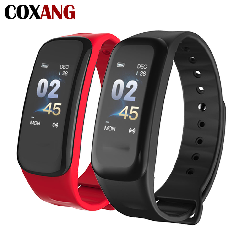 COXAN C1S Smart Bracelet Color Screen Blood Pressure Fitness Tracker Smart Band Heart Rate Monitor Activcity Pedometer Wristband fashion women color screen smart band wristband heart rate blood pressure monitor fitness bracelet tracker smartband pedometer