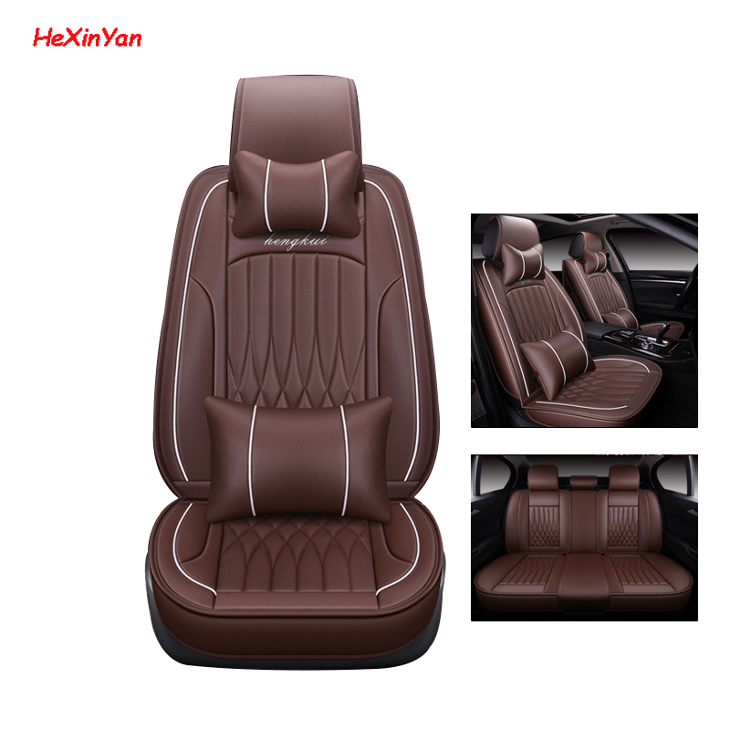 HeXinYan Universal Leather Car Seat Covers for Nissan March Teana qashqai x trail Note Murano tiida