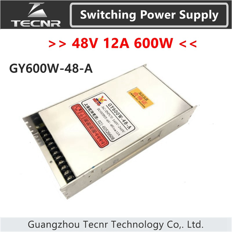 TECNR 48V 600W 12A switching power supply for cnc laser engraving machine GY600W-48-A engraving machine power engraving machine 48v power supply 800w power engraving machine switching power supply engraving machine