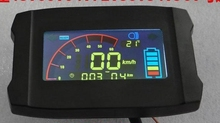 smaller screen LCD display with speed battery level indicator turning signal light for electric scooter motorocycle 36v48v60v72v