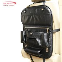 Genuine Leather Car Storage Bag Organizer Universal Back Seat Bags Backseat Trunk Travel Holder Box Pockets Protector For kids