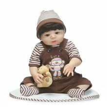 kawaii 57 cm vinyl reborn baby dolls toy for girls 22 inch reborn babies silicone - baby reborn dolls for sale doll-for-girls