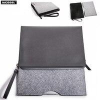 Jacodel PU Laptop Bag Felt Universal Notebook Case Pouch For Apple Macbook Air Pro Retina 12 13 15 bag for macbook air 13 case