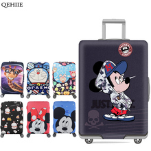 QEHIIE Prints Travel Luggage Cover Dust Cover Cartoon Cute Trunk Lid For 18 To 32 Inch Trolley Case Organizer Travel Accessories