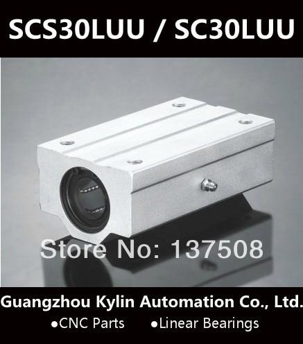 Best Price! 1pcs SCS30LUU / SC30LUU Linear Bearing 30mm Linear Slide Block XYZ CNC SCL Series
