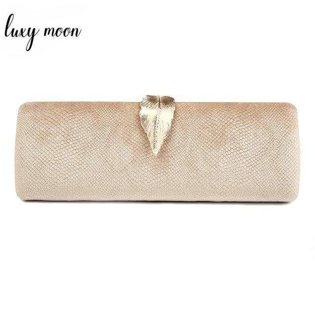 Искусственная замша вечерний клатч сумка для женщин длинный дизайн клатч позолоченный металл замочек в форме листа свадебный кошелек женская сумочка Bolsa