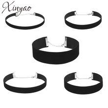 XINYAO – ensemble de colliers Ras Du Cou en velours noir pour femmes, Simple, rétro, à la mode, F6668