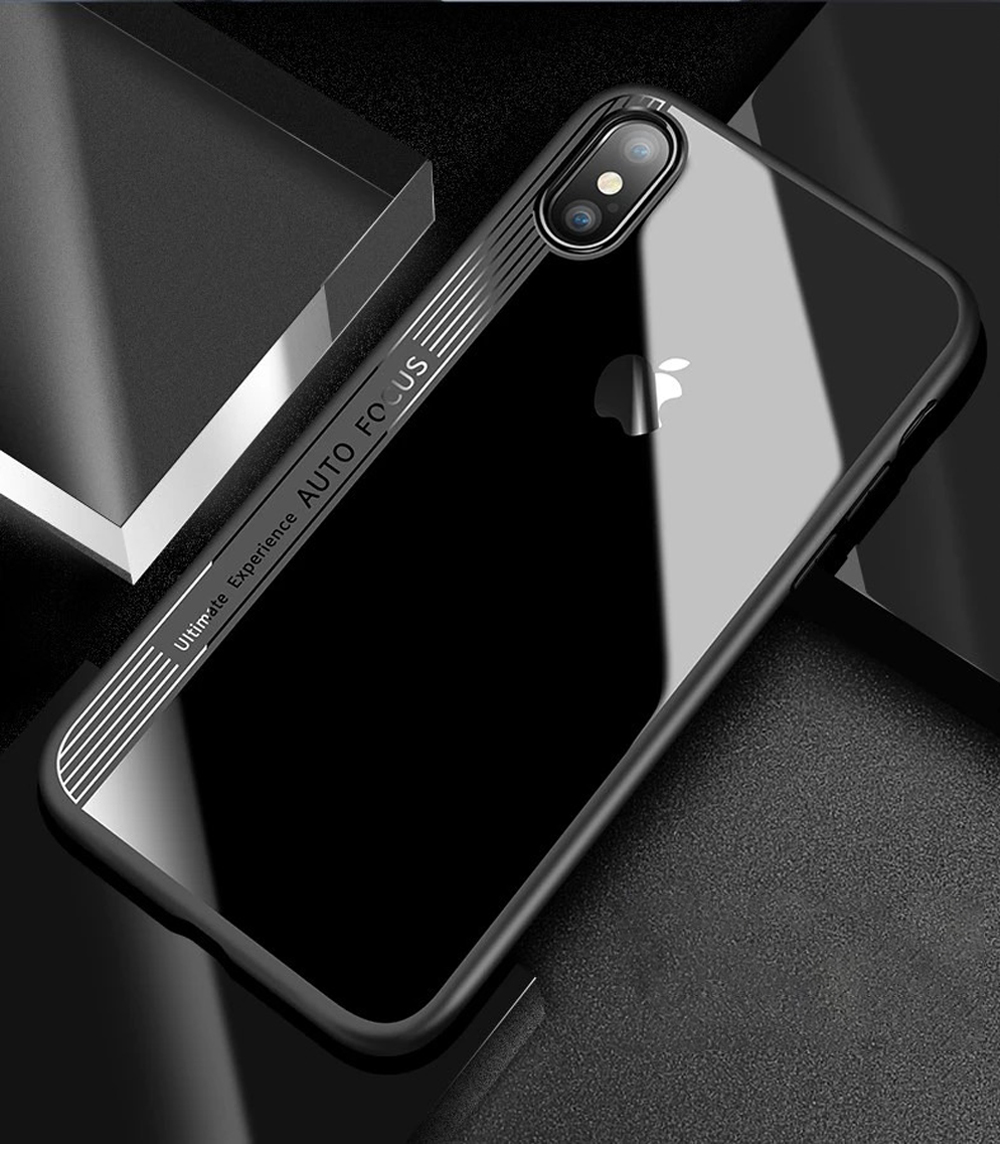 Ascromy For iPhone XS Max Case Clear TPU PC Silicone Bumper Transparent Phone Cover For Apple iPhone X S XR XS coque Accessories (8)