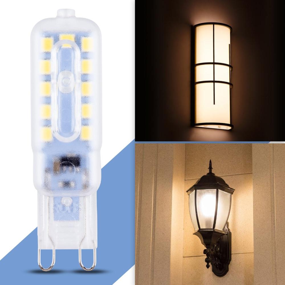 Купить с кэшбэком 8pcs/lot G9 Led Conr Bulb 230V Led Light Energy Saving 14 22leds replace halogen led lamp 30W 50W G9 Mini Spotlight 220V Ampoule