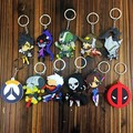 10pcs/1set Over game of watch Silicone phone chain doll no repeat 8cm OW Over the watch online game action figure toy for player