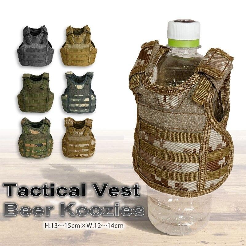 CQC Military Tactical Beer Molle Vest Beverage Cooler Drink Holder Mini Miniature Hunting Vests Wine Bottle Cover