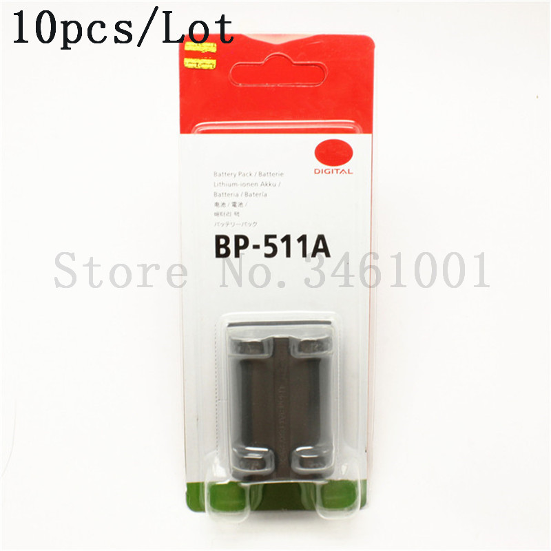 10pcs lot BP 511A Batteries BP 511A Battery 511 Camera Battery For Canon EOS 300D 10D