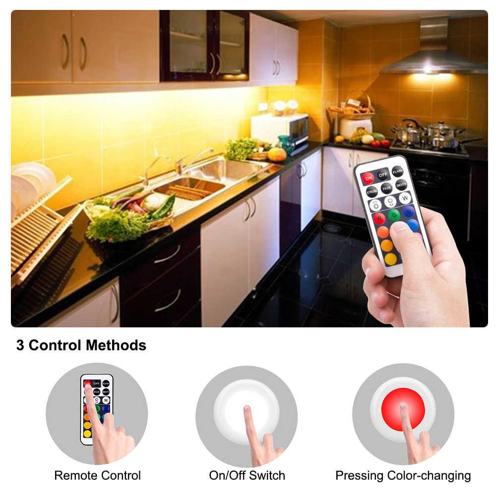 Затемняемый под шкафом свет шайба Свет полка кухонный шкаф лампа LED шкаф витрина Счетчик ночного освещения