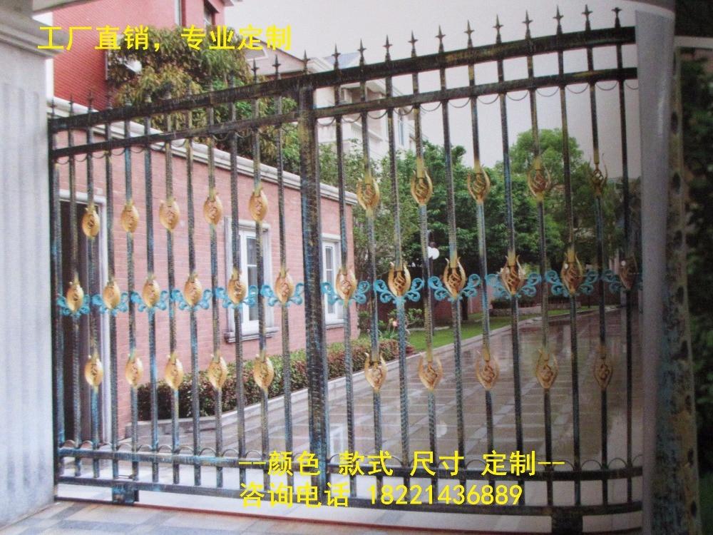Custom Made Wrought Iron Gates Designs Whole Sale Wrought Iron Gates Metal Gates Steel Gates Hc-g60