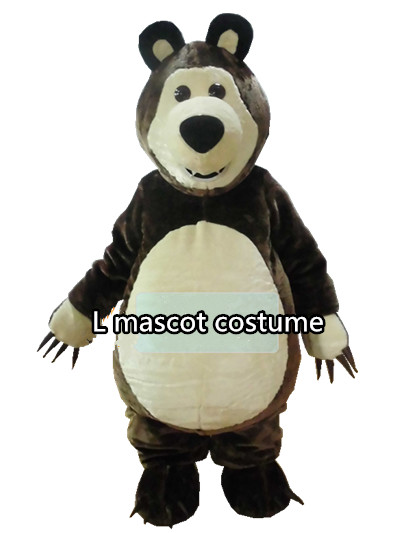 Masha Bear mascot costume Walking Cartoon Costumes Clothes Film and TV Props Performance mascot costume