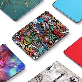 Slim Magnetic cover case for Pocketbook 627616632 funda cover for PocketBook Touch Lux 4 Basic Lux 2 case embroidery